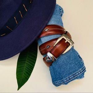 Brighton Brown Leather Belt Size Medium/Large